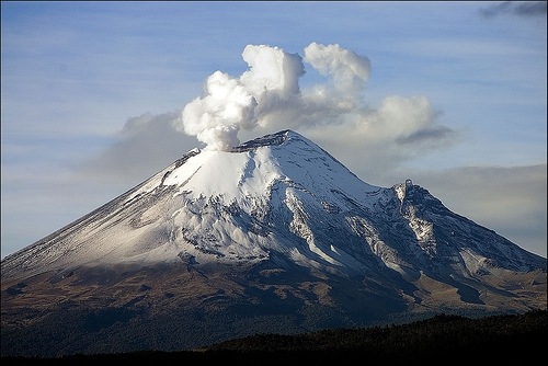Popocatepetl en éruption