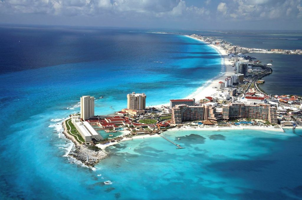 La ville de Cancun au Mexique