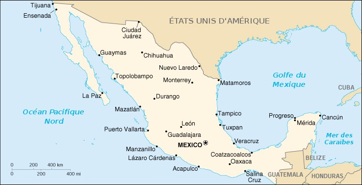 Carte Mexique